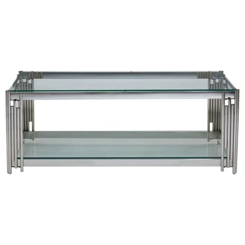 Rosenthal Silver & Glass Coffee Table