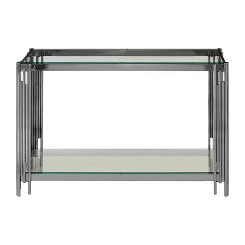 Rosenthal Silver & Tinted Glass Console Table