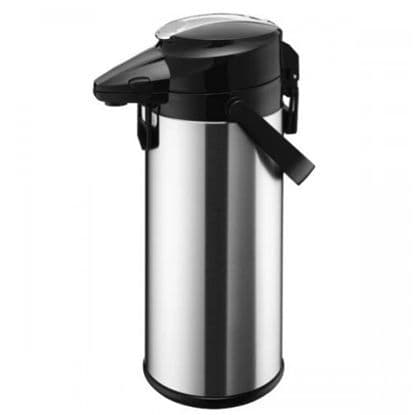 SATIN Stainless Steel GLASS LINED Airpot / Lever Type 2.2L