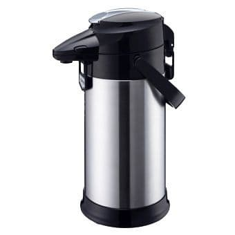 Satin Stainless STEEL LINED Airpot - Lever Type 2.5L TAG