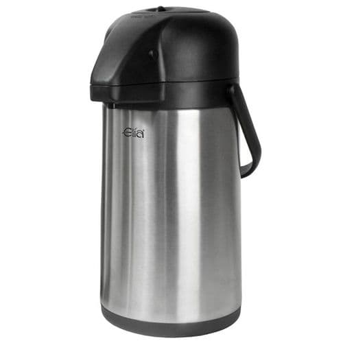 Satin Stainless STEEL LINED Airpot - Push Button 2.5L