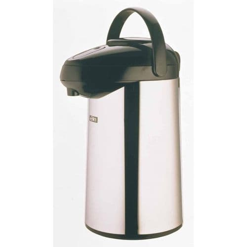 Satin Stainless STEEL LINED Airpot - Push Button 2.5L BH