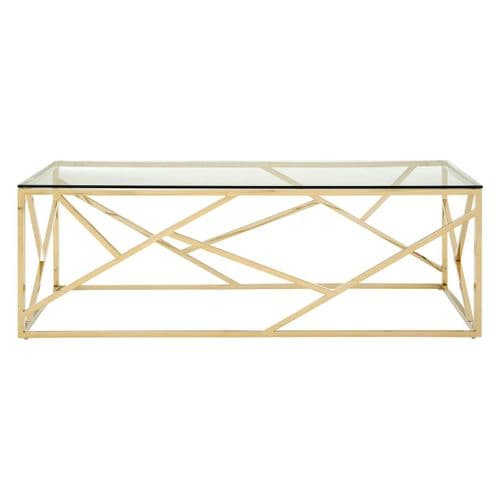 Smithson Geo Gold & Glass Coffee Table