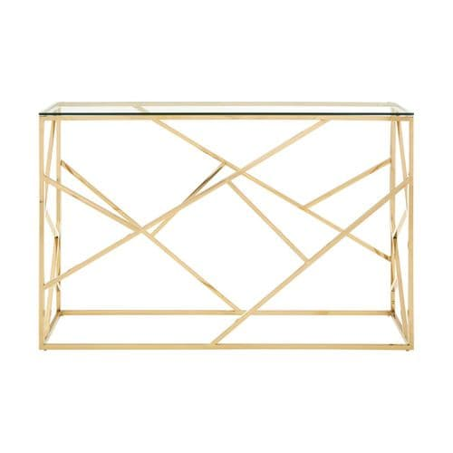 Smithson Geo Gold & Glass Console Table