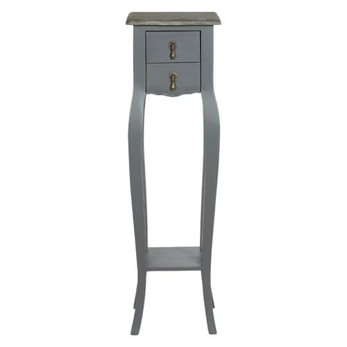 St. Ives Regency Double Drawer Grey Flower Stand