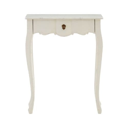 St. Ives Regency Single Drawer White Console Table - H75 x W60