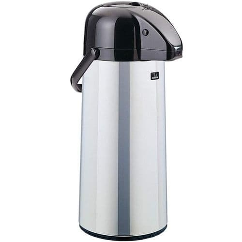 Stainless Steel GLASS LINED Airpot - Push Button 2.5L