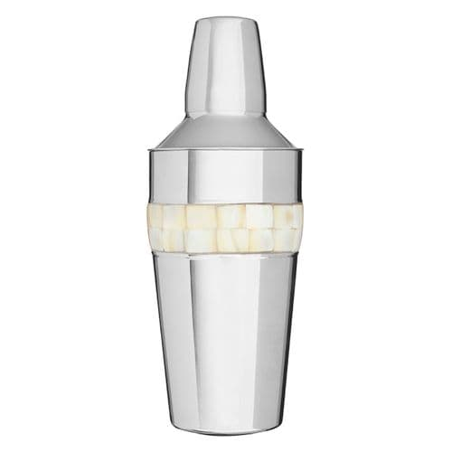 Stainless Steel Pearl Inlay Cocktail Shaker