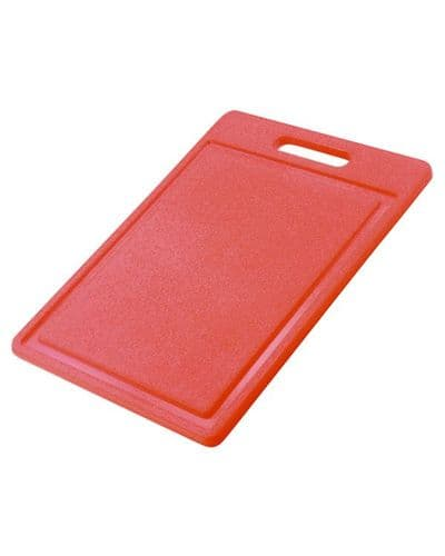 Standard Carry Handle Chopping Board 35.5cm - RED