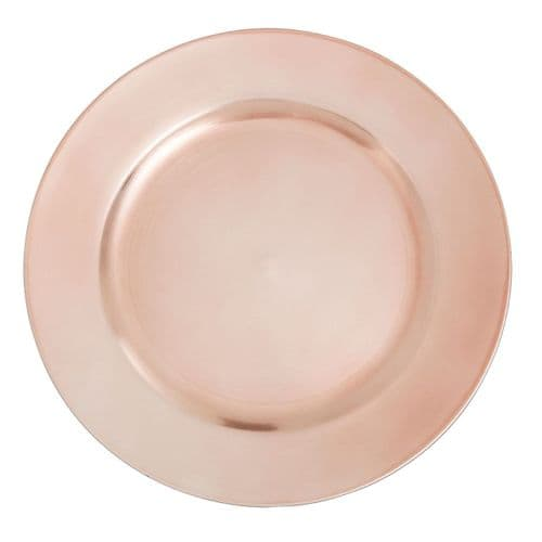 Talia Rose Gold Charger Plate, Underplate - 33cm