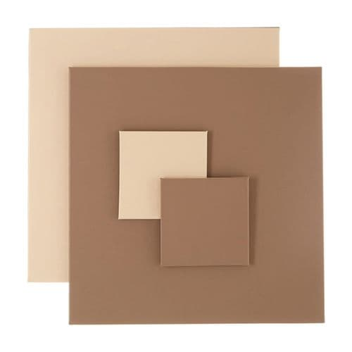 Taupe / Cream  Reversible Placemat& Coaster - Set of 4