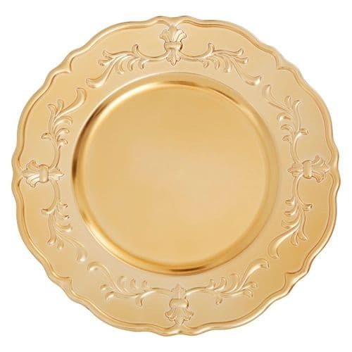 Venetian Baroque Gold Charger Plate Underplate - 33cm
