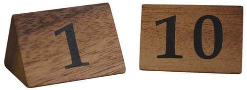 Wooden Table Numbers 1 -10