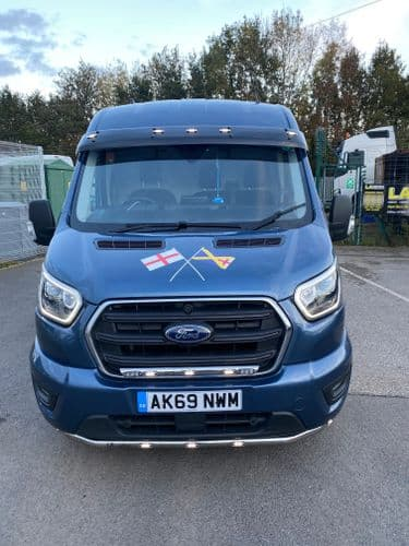 Ford transit Mk8 Acrylic Visor - With LED's
