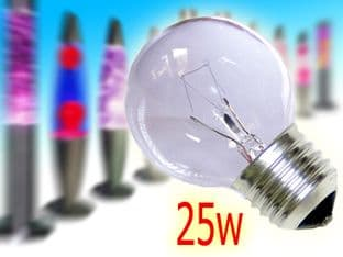 2x Lava/Glitter Lamp Replacement Bulb ES-E27 Golf Ball 25w
