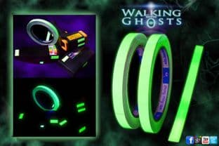 3x Glow in the Dark Self Luminous Tape, Ghost Hunt Paranormal 12mm x 300mm /UK