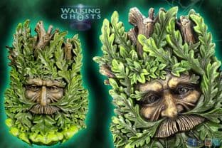 Green Man,Tree Spirit Wall sculpture Plaque Wise Oak Wicca Pagan, Magick