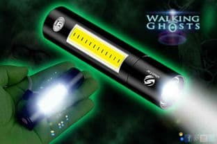 LED 3W Zoom Mini Flashlight with Cob Lantern Super Bright Torch Ghost Hunt UK