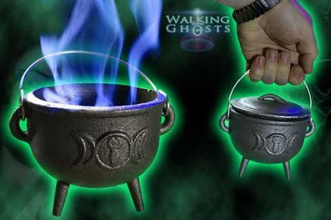 Medium Cast Iron Witches Cauldron Magick Wicca Spells Conjuring Casting Pagan