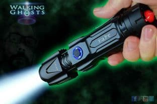 Super Bright LED Zoom Flashlight Rechargeable Power Torch Ghost Hunt Paranormal