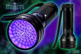 Ultraviolet UV 51 LED Flashlight Torch Ghost Hunt Paranormal Forensic UK