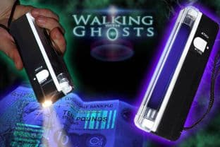 UV Ultraviolet Tube Torch/Flashlight, Ghost Hunting Paranormal, Money Checker