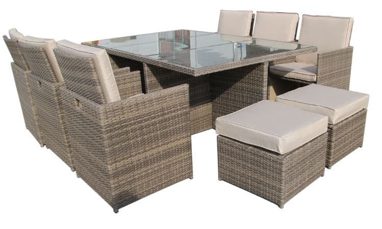 The 11pc Deluxe Cube Dining Suite