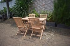 The California 4 Seater Teak Dining Suite