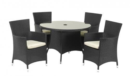 The Cannes 4 Seater Dining Suite