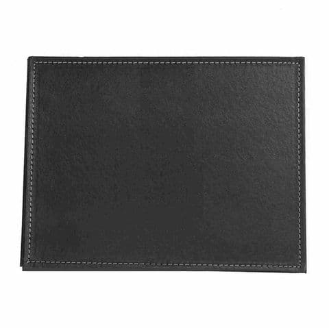 2 Pack Black Faux Leather / Leatherette Placemats