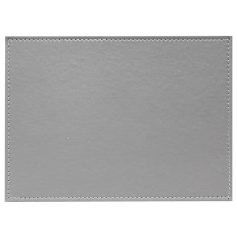 2 Pack Reversible 2 Tone Grey Faux Leather / Leatherette Placemats