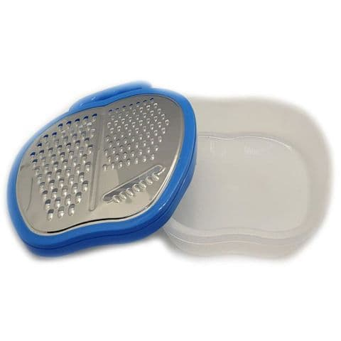 Blue Vegetable & Cheese Box Grater with Container
