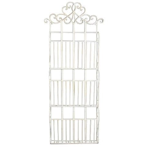 Cream Metal 3 Section Magazine Letter & Post Wall Rack