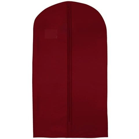 Dark Red Thick Hanging Clothes Suit & Shirt Cover