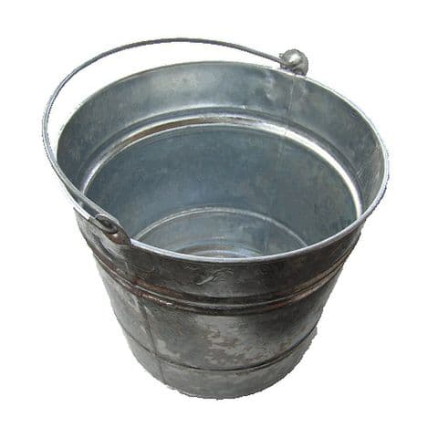 Galvanised Fireside Kindling & Ash Bucket 12L