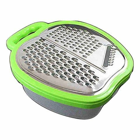Green Vegetable & Cheese Box Grater with Container