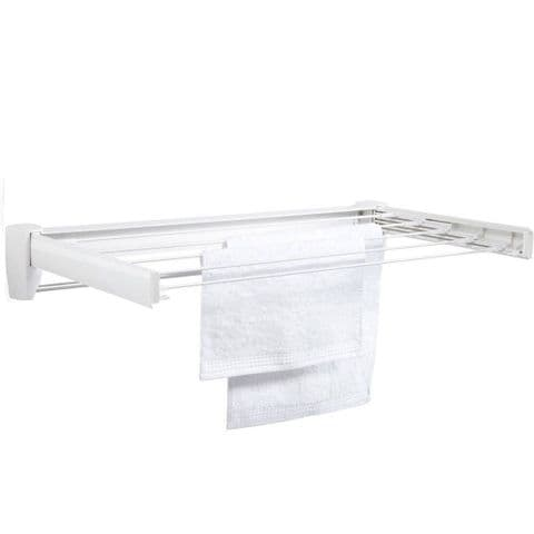 Leifheit 72cm Wall Airer Drying Rack with Towel Rail