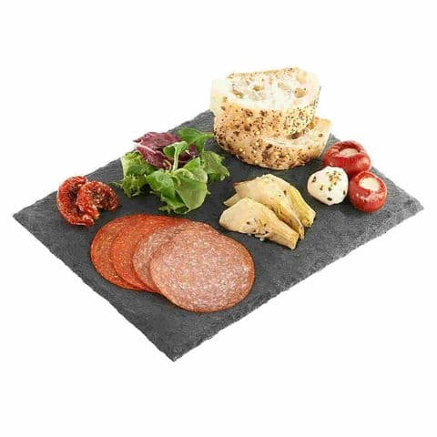 Natural 30cm Slate Canapé & Antipasti Starter Serving Board Platter