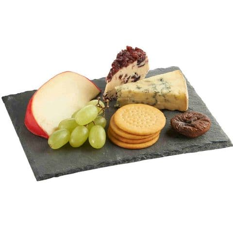 Natural 30cm Slate Cheese Serving Platter / Board