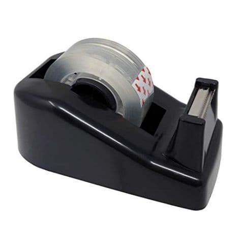 Small Black Weighted Tape Dispenser 10 x 6cm
