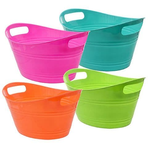 Small Flexible Oval Plastic Carry Organiser Tub Basket