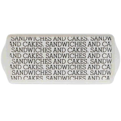 White Afternoon Tea Sandwiches & Cakes Tray