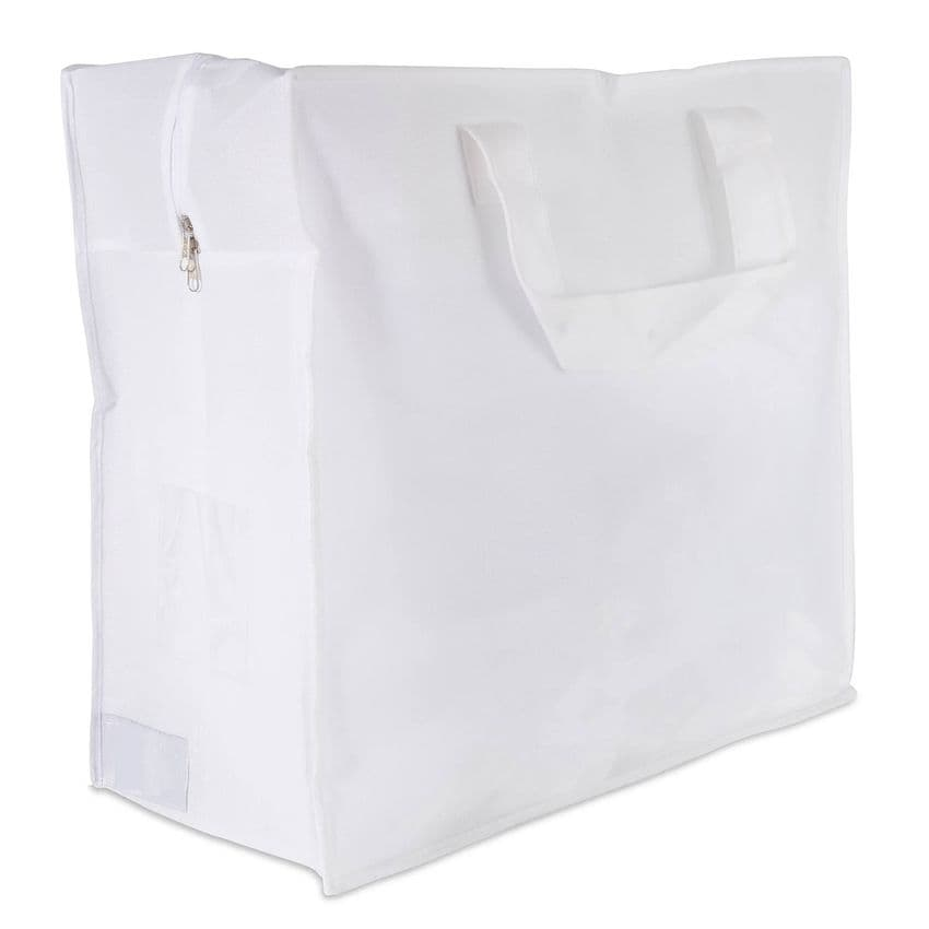 White Feather Duvet Storage Bag & Laundry Carrier