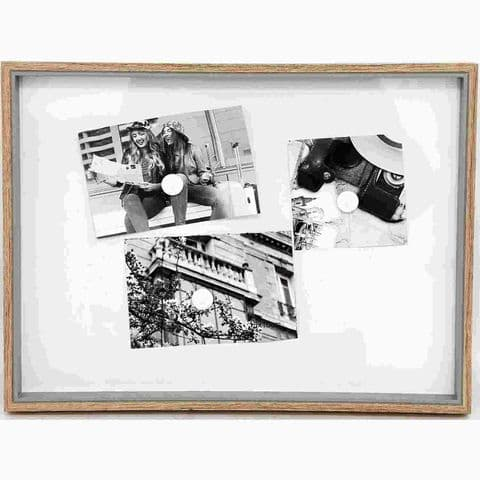 Wooden Frame Magnetic White Memo & Notice Board