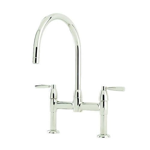Perrin and Rowe Io Bridge Kitchen Tap with Lever Handles