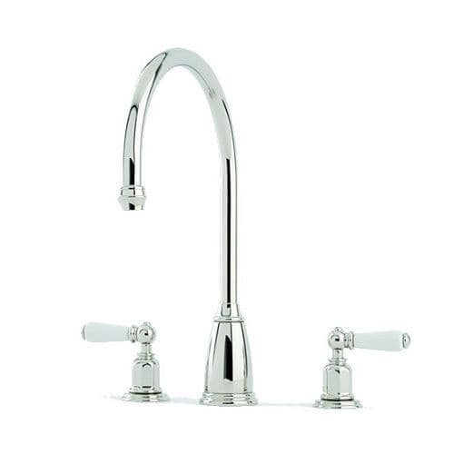Perrin and Rowe Athenian Lever Handle 3 Hole Kitchen Tap