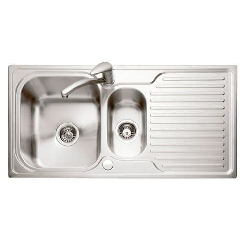 Caple Dove 150 Stainless Steel Single Bowl Inset Kitchen Sink