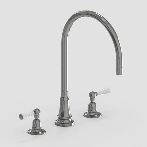 """Hornbeam Ivy Three Hole Mixer with 10"""" Swivel Spout"""
