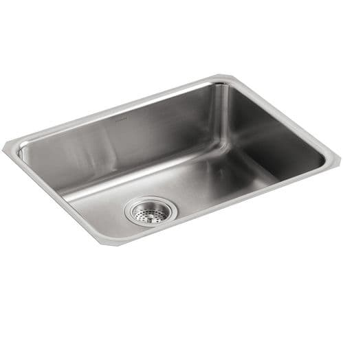Kohler Icerock Stainless Steel Under-Mount Kitchen Bowl - 3332-NA