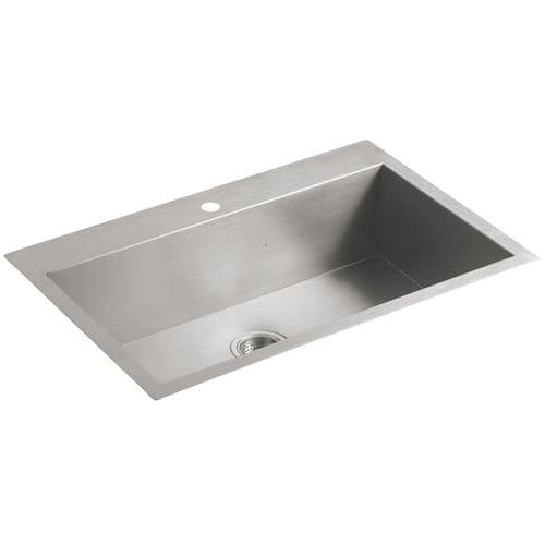 Kohler Vault 3821-1-NA Single Bowl Stainless Steel Kitchen Sink